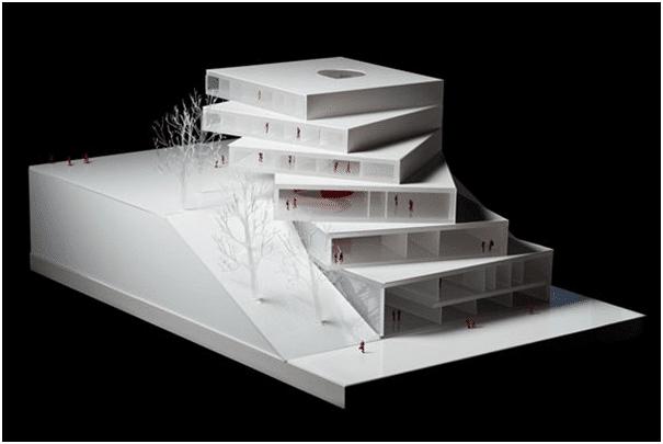 Estudio 3D renderizado arquitectos