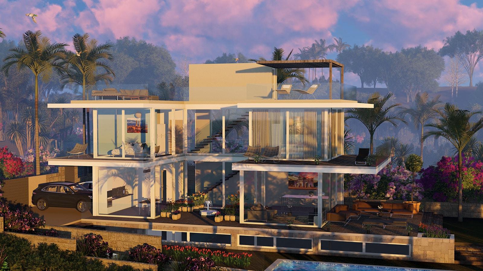 diseño arquitectura render 3D